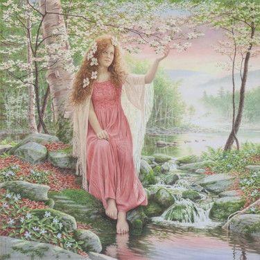 "Saatchi Online Artist Barry DeBaun; Painting, ""Spring Blossoms"" #art"