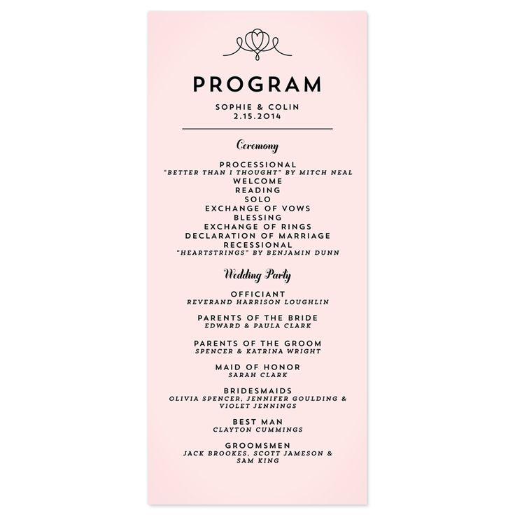 Best 25+ Wedding program samples ideas on Pinterest Reception - wedding agenda sample