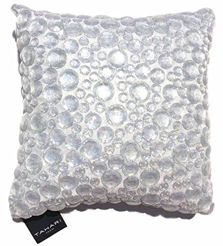 Tahari Home Decorative Pillows : Tahari Rhinestone Dew Drop Decorative Toss Pillow Cover 100% Cotton Crystal Embroidered Dew Drop ...