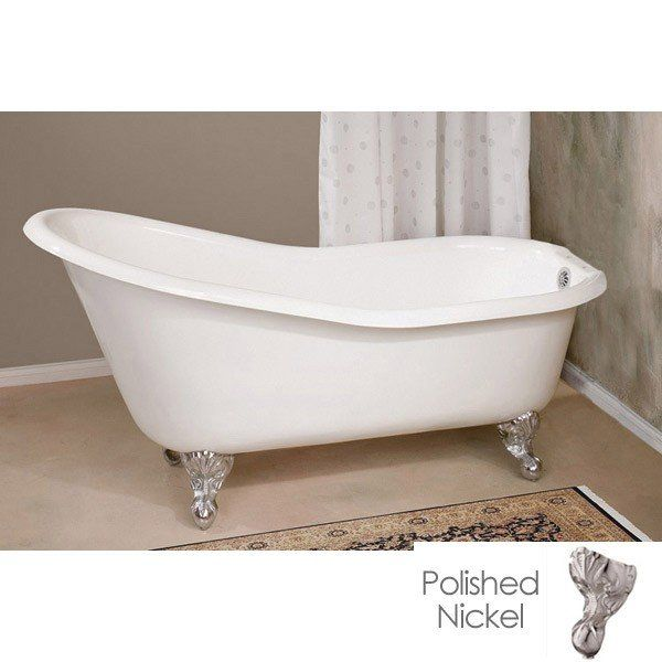Only One Available 61 Inch Cast Iron Slipper Clawfoot Tub 7