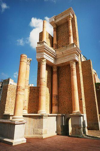 The Roman Theatre of Cartagena. Museo Teatro Romano de Cartagena. Cartagena. Spain.