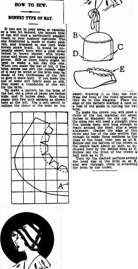 The Brisbane Courier (Qld. : 1864 - 1933), Tuesday 10 February 1931, page 17 Cloche hat