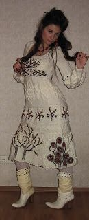 """Iren Designs: Dress """"Cenere di montagna sulla neve"""""""
