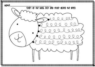 Spring Lamb Handwriting Fluency Worksheets