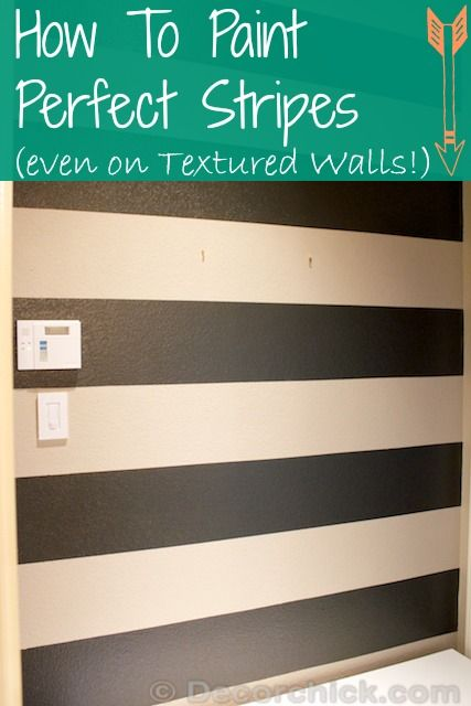 How To Paint The Perfect Stripes Tutorial, and Painting Stripes on Textured Walls   www.decorchick.com