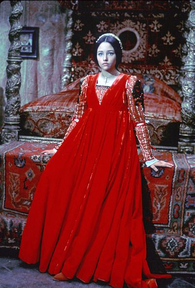 Olivia Hussey as Juliet in Romeo and Juliet (1968). The very first version of the play that I saw, I was swept away to another world!