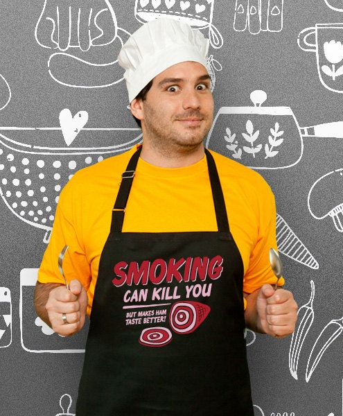 Smoking Can Kill You Cooking Apron Husband Awesome by store365