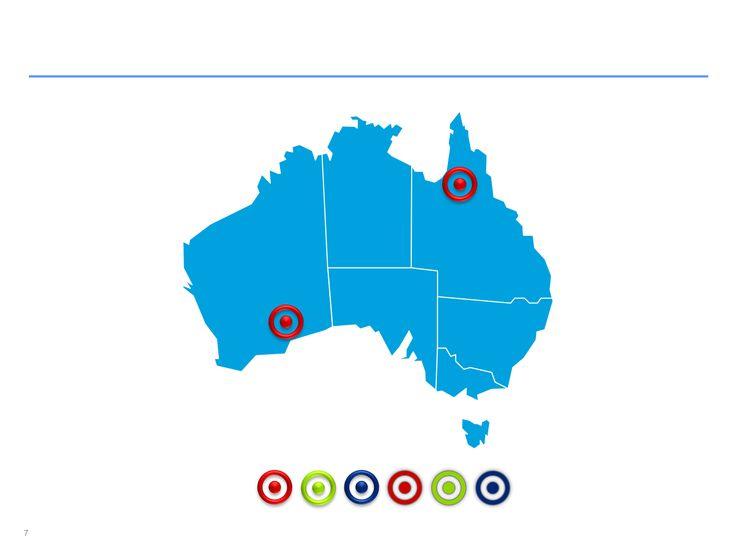 Descarga ahora Mapas de Australia editables en ppt