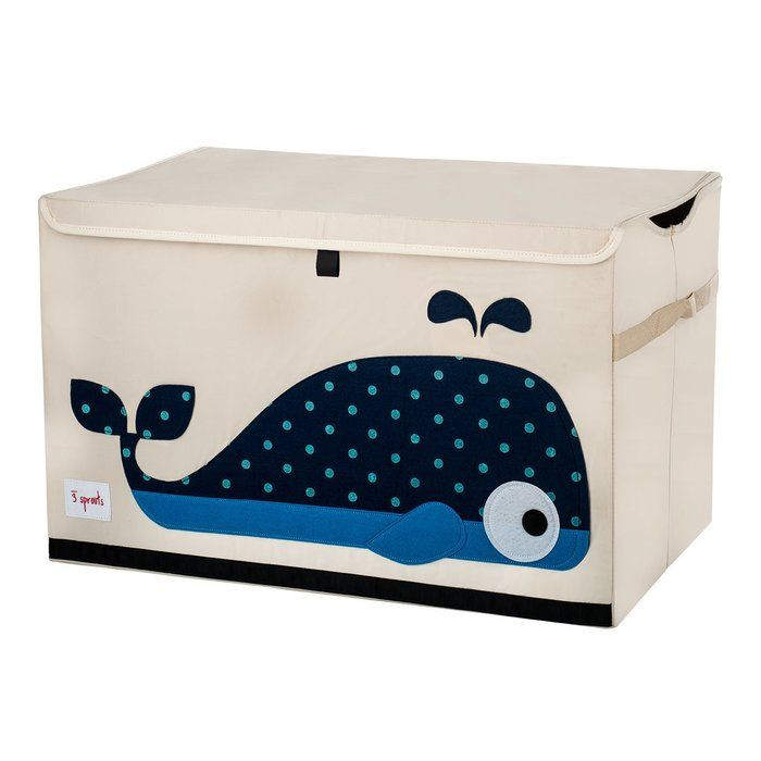 The 3 Sprouts toy chest is the perfect organizational tool for any room. With sides reinforced by cardboard, the toy chest stands at attention even when empty. Large enough to hold whatever you throw in it, this toy chest adds a pop of fun to every room. The 3 Sprouts toy chest makes organizing a room full of toys easy.
