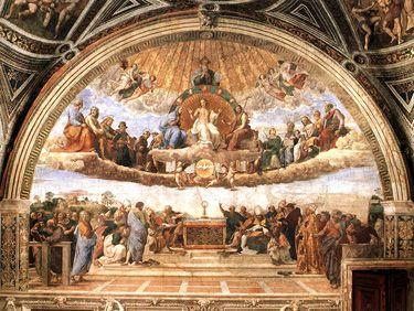 Perfecting and Surpassing the Renaissance: Raphael and Michelangelo- La Disputà (Disputation of the Holy Sacrament)