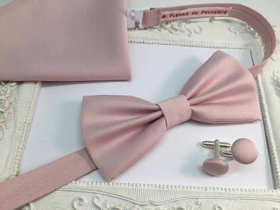 SET Noeud Papillon bouton de manchette et Pochette costume