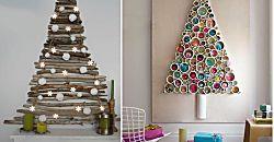 30 ideas para árboles de Navidad pequeños