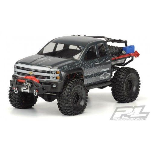 "Chevy Silverado Rock Crawler Body, 12.3"" WB, Clear, PRO343900 by Proline-Protoform"