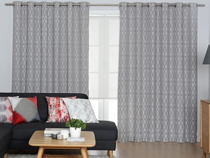 Monte Carlo Silver Eyelet Curtains