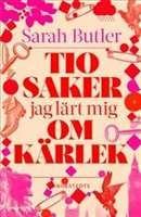 Tio saker jag lärt mig om kärlek / Sarah Butler ................Alice återvänder till London vid sin pappas bortgång. Hon har varit på resande fot under lång tid, men lovar nu att ta hand om försäljningen av barndomshemmet. En dag möter hon Daniel. Han har inte haft tak över huvudet på flera år och tillbringar varje dag sökande efter sin dotter som han aldrig har träffat. #romaner #relationer #kärlek
