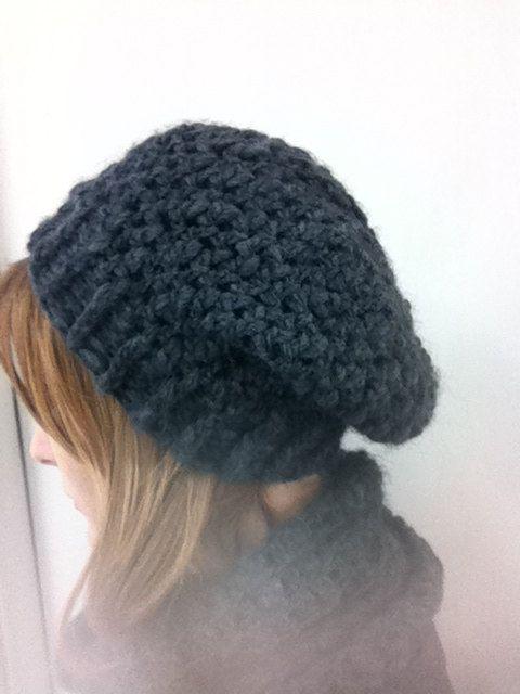 Crochet beanie  Cappello grigio uncinetto 201 di Angelicaneri