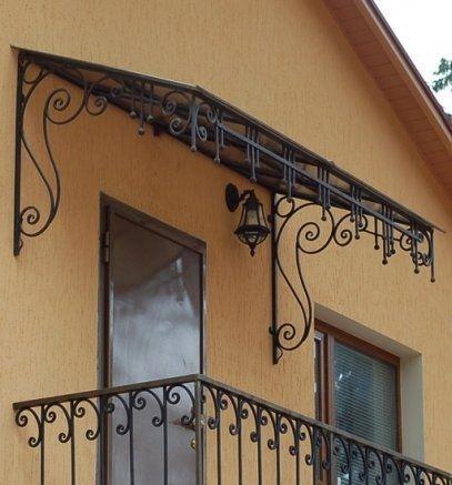 Кованые козырьки — красота и практичность для Вашего дома, изготовление козырьков в СПб по привлекательной цене