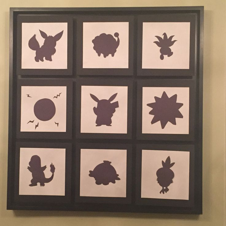 Pokemon Party pokemon silhouettes including pikachu for backdrop and guessing game from Rose's Notes #pokemongo