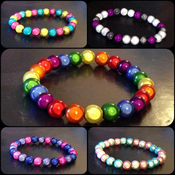 PRIDE Flag Inspired Miracle Bead Bracelets by SculptRenaissance