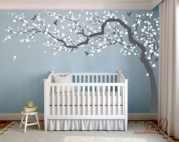 Wall Decal Charming Pink Blossom Tree Cherry