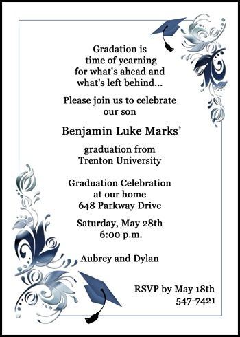 82 best Graduation Party Open House Invitations images on Pinterest