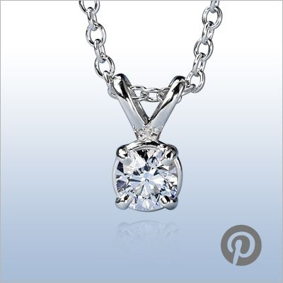 """{This giveaway has ended} Enter to win a Blue Nile Signature Cushion Cut Pendant! The diamond includes the special """"Hearts & Arrows"""" light pattern for exceptional brilliance."""