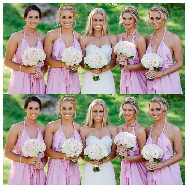 Just stunning :: @zanfaets gorgeous bridesmaids in the Lisa Brown Poppy Dress in Musk.  The Poppy Dress can be created in many colours to suit your wedding style. Get in touch with us on 1300 103 160 or visit your nearest Lisa Brown retailer.  #lisabrowndesigns #lisabrown #bridal #wedding #weddingdress #bridesmaiddress #weddingday #weddinginspiration #weddingseason #bridalwear #australiandesigner #bridaldesigner #longdress #dresses #bohofashion #brisbane #brisbanefashion #brisbaneweddings…