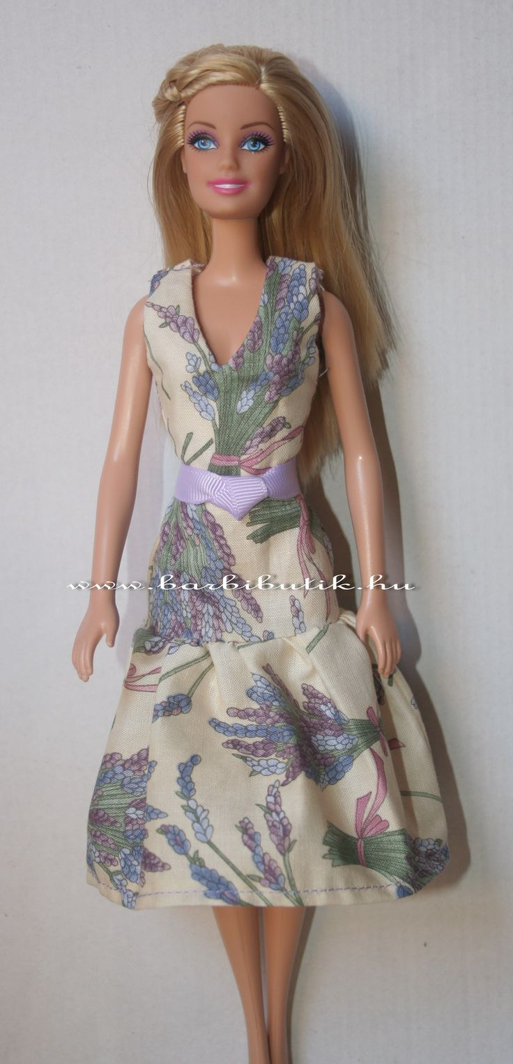 Levendulás ruha övvel / Barbie dress with lavender and belt.