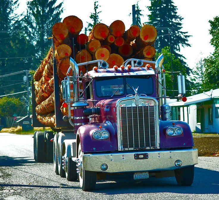 Log+Truck+Drawings Log Truck Photograph by Kat Scanlon