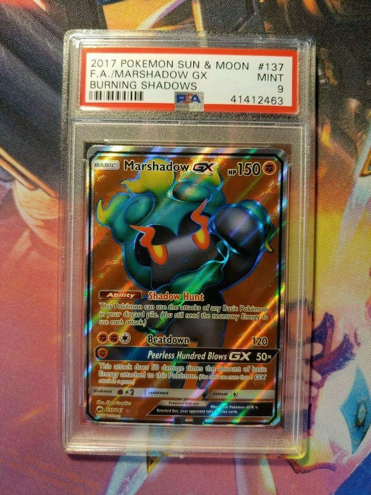 Pokemon MARSHADOW GX 137//147 FULL ART ULTRA RARE NM CARD   BURNING SHADOWS