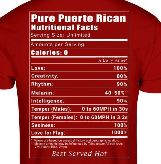 Pure Puerto Rican!!