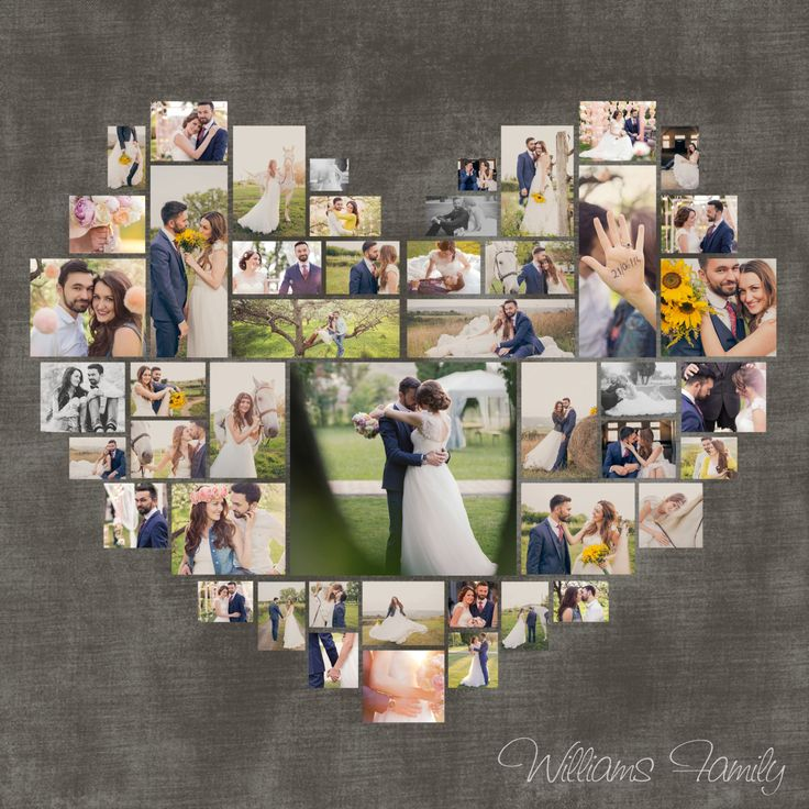 custom options custom heart shape with your own photos this can be customized - Picture Collages
