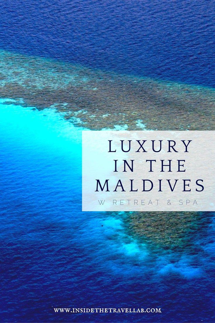 Luxury in the Maldives - W Resort and Spa Maldives Islands via @insidetravellab