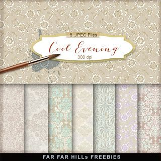 New Freebies Kit - Cool Evening:Far Far Hill - Free database of digital illustrations and papers