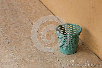 Green Recycle Bin in the floor Floor tiles mosaic background details