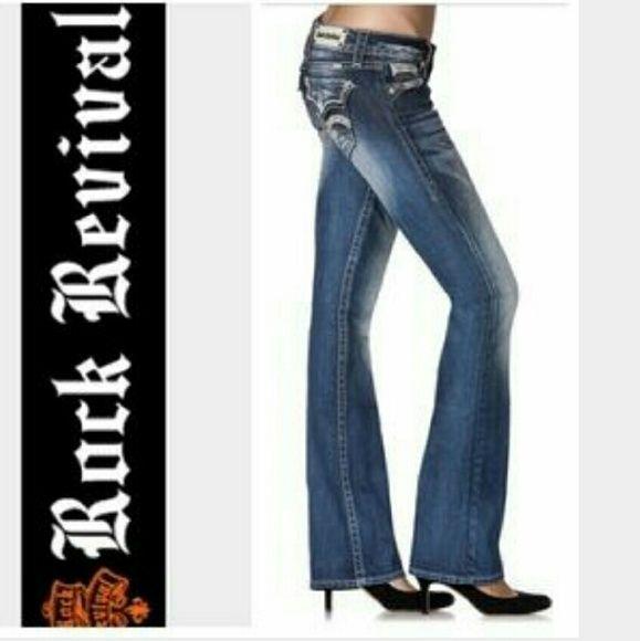 Rock Revival Jasmine Jeans Rock Revival Jasmine size 28 boot cut jeans. Good condition. Rock Revival Jeans Boot Cut
