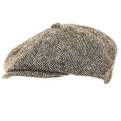 NEW GREY 8 PANEL COUNTRY FLAT GATSBY NEWSBOY BAKER BOY CAP HAT PEAKY BLINDERS