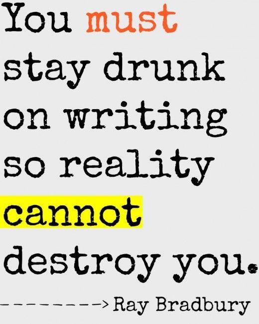 ray bradbury on writing advice tumblr
