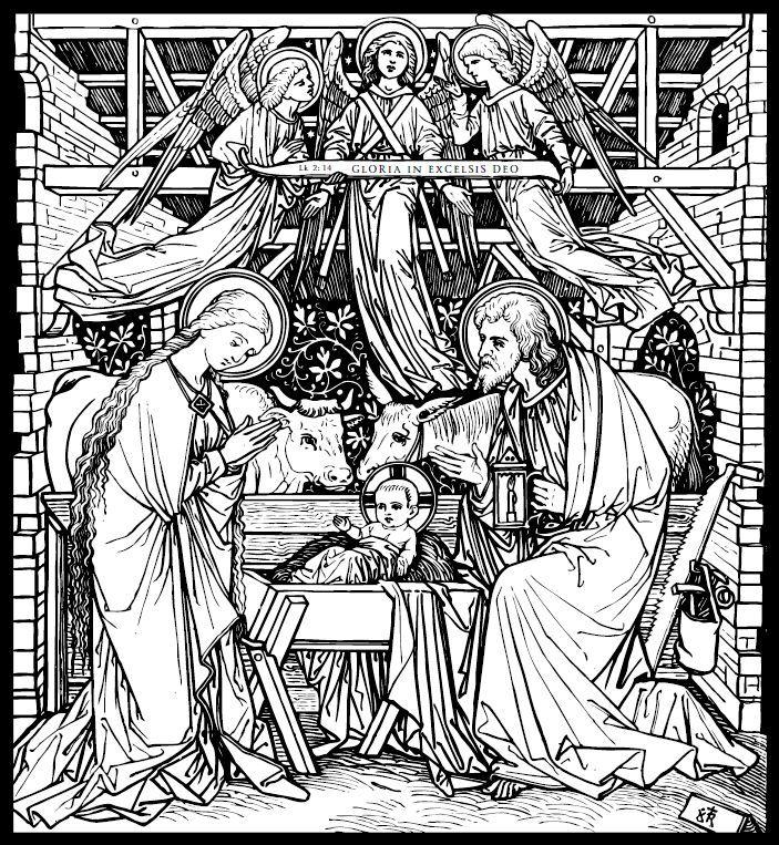 Line Art Nativity : Best religious line art images on pinterest