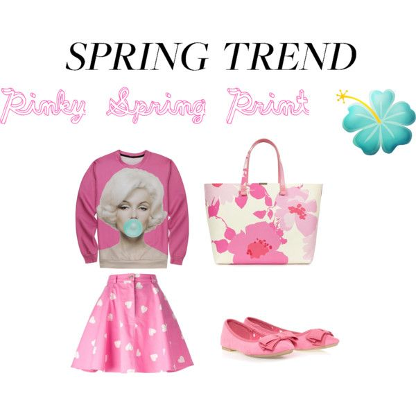 Pinky Spring Print by ve-ethnic-channel on Polyvore featuring Moschino, Victoria Beckham and graphicsweatshirt