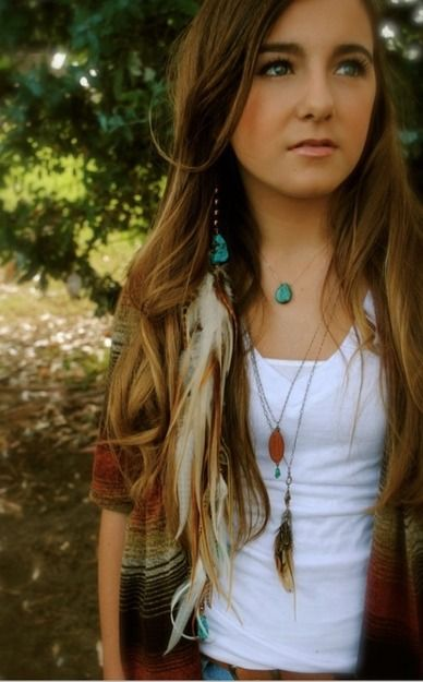64 best hippie in me images on pinterest 15 years beads and turquoise feather hair jewelry feather extension hair by lissydawn pmusecretfo Gallery