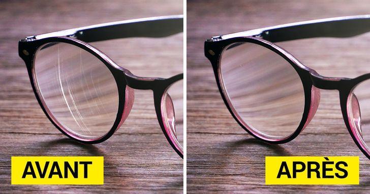 11 manières de réparer tes lunettes rayées, alors que tu
