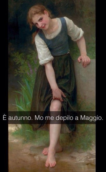 Se i quadri potessero parlare Il guado - William-Adolphe Bouguereau 1895