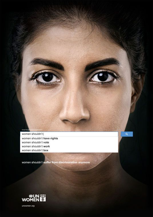 UN uses Google autocomplete for sexism ad campaign.