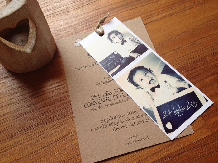 7 inviti-con-foto-matrimonio, invito matrimonio con foto del figlio, inviti carta craft, inviti a tema bucolico, partecipaziioni in carta craft