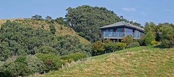Looking up at Point of View Villas, luxury accommodation for couples.    Book Online