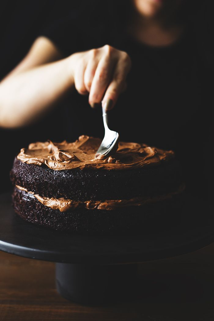 Spiced hot chocolate cake: a decadent twist on a classic, with dark chocolate buttermilk frosting.