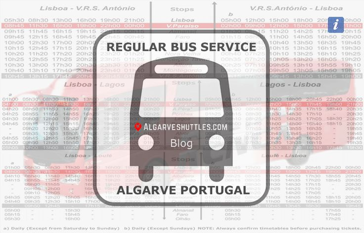 You may want travel at more affordable prices than our Algarve Shuttles services while in the Algarve so here are some local bus timetables.