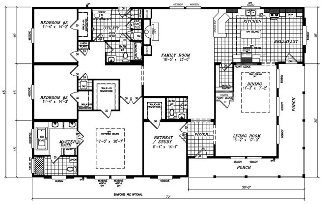 Fleetwood mobile home floor plans and prices view our for 5 bedroom double wide