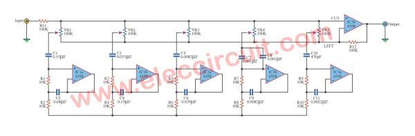 Graphic Equalizer Circuits With Pcb Layout For You Eleccircuit Com Equalizer Circuit Graphic